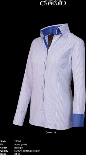 Giovanni Capraro 29308-39 Blouse - Blauw gestreept [Navy accent]