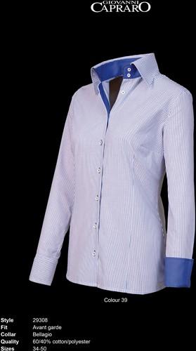 Giovanni Capraro 29308-39 Dames Blouse - Blauw gestreept [Navy accent]