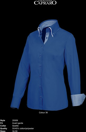 Giovanni Capraro 29309-36 Blouse - Donker Blauw [Blauw accent]