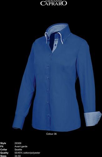 Giovanni Capraro 29309-36 Dames Blouse - Donker Blauw [Blauw accent]