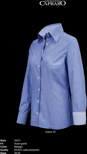 Giovanni Capraro 29311-35 Dames Blouse - Blauw gestreept [Blauw accent]