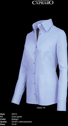 Giovanni Capraro 29315-10 Dames Blouse - Licht Blauw [Wit accent]