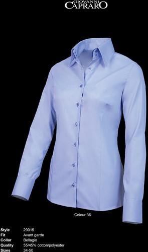 Giovanni Capraro 29315-36 Dames Blouse - Licht Blauw [Blauw accent]