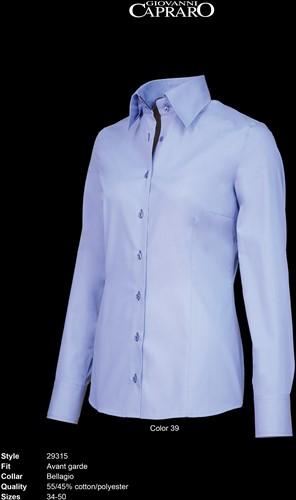 Giovanni Capraro 29315-39 Dames Blouse - Licht Blauw [Navy accent]