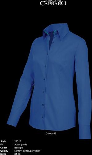 Giovanni Capraro 29316-55 Dames Blouse - Donker Blauw [Groen accent]