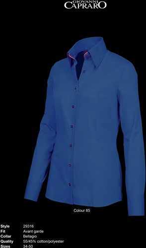 Giovanni Capraro 29316-85 Dames Blouse - Donker Blauw [Rood accent]