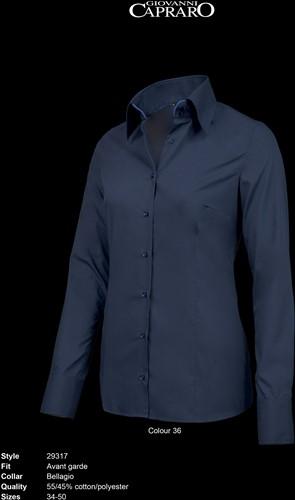 Giovanni Capraro 29317-36 Dames Blouse - Navy [Blauw accent]