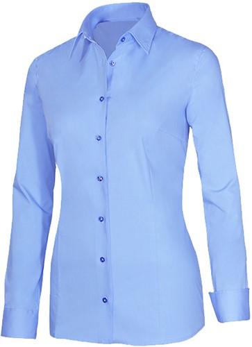Giovanni Capraro 29336-32 Dames Blouse met stretch - Licht Blauw