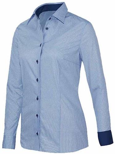 Giovanni Capraro 29339-32 Dames Blouse - Licht Blauw [Navy accent]