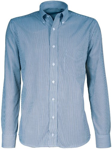 Giovanni Capraro 38-01 Heren Overhemd - Blauw Gestreept