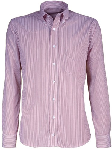 Giovanni Capraro 38-02  Heren Overhemd - Licht Roze Gestreept