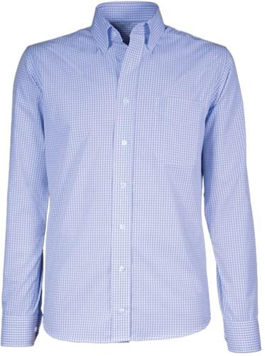 Giovanni Capraro  50-31 Heren Overhemd - Licht Blauw Geblokt