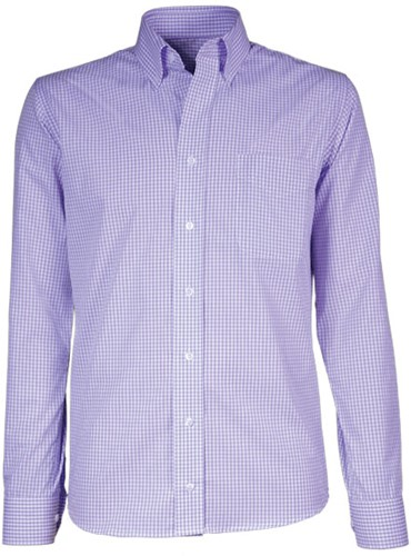 Giovanni Capraro  50-70 Heren Overhemd - Licht Paars Geblokt