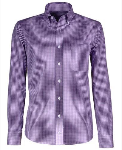 Giovanni Capraro  50-78 Heren Overhemd - Paars Geblokt
