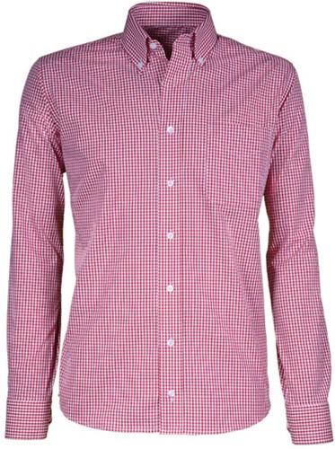 Giovanni Capraro  50-85 Heren Overhemd - Rood Geblokt