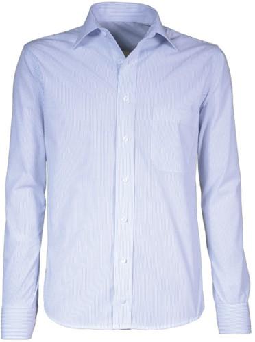 Giovanni Capraro  70-32 Heren Overhemd - Blauw (Wit Accent) Gestreept
