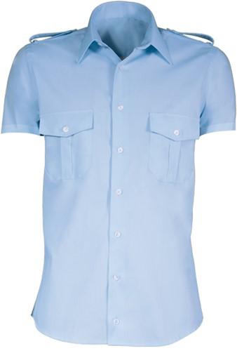 Giovanni Capraro 8-2 Heren Pilot Overhemd - Blauw