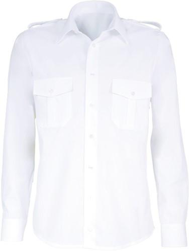 Giovanni Capraro 9-1 Heren Pilot Overhemd - Wit