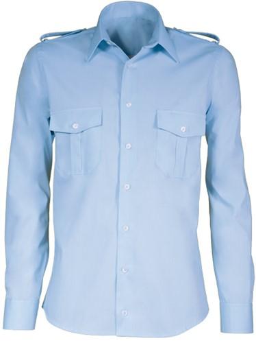 Giovanni Capraro 9-2 Heren Pilot Overhemd - Blauw