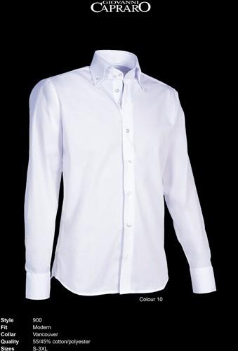 Giovanni Capraro 900-10 Heren Overhemd - Wit