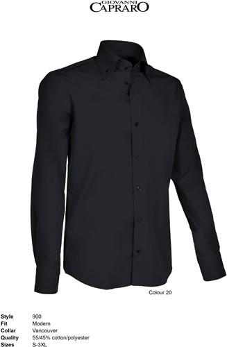 Giovanni Capraro 900-20 Heren Overhemd - Zwart