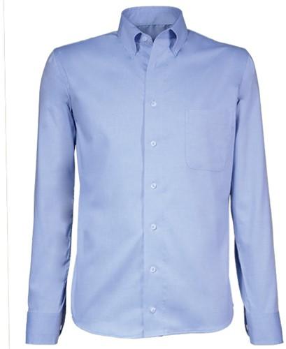 Giovanni Capraro 90-33 Heren Overhemd - Blauw