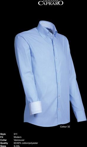 Giovanni Capraro 911-32 Heren Overhemd - Licht Blauw gestreept