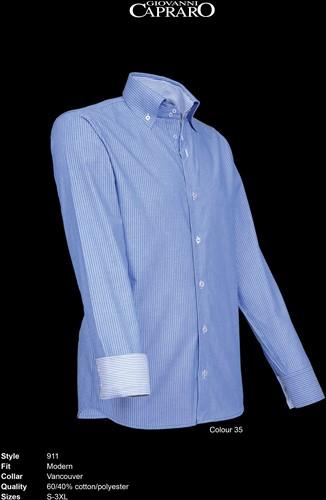 Giovanni Capraro 911-35 Heren Overhemd - Blauw gestreept