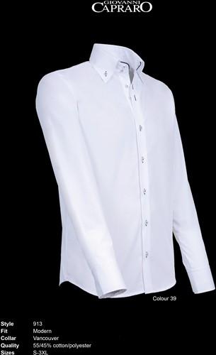 Giovanni Capraro 913-39 Overhemd - Wit [Navy accent]