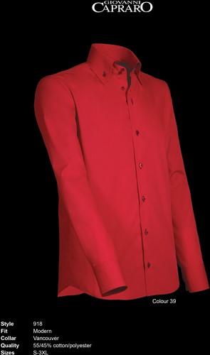 Giovanni Capraro 918-39 Heren Overhemd - Rood [Navy accent]