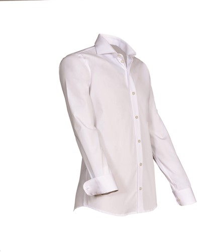Giovanni Capraro 920-10 Heren Overhemd - Wit