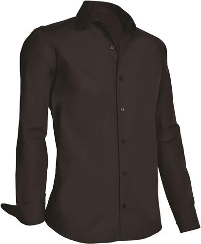 Giovanni Capraro 920-20 Heren Overhemd - Zwart