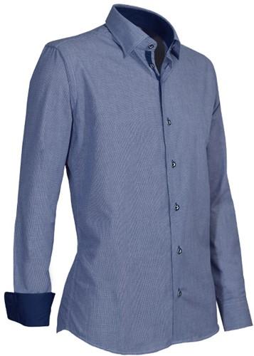 Giovanni Capraro 934-36 Heren Overhemd - Blauw
