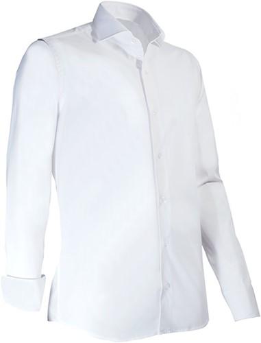 Giovanni Capraro 936-10 Heren Overhemd met stretch - Wit