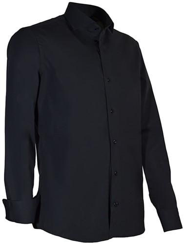 Giovanni Capraro 936-20 Heren Overhemd met stretch - Zwart