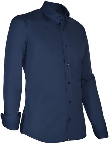 Giovanni Capraro 936-38 Heren Overhemd met stretch - Navy