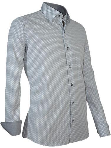 Giovanni Capraro 938-12 Heren Overhemd - Grijs