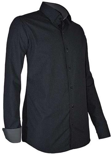 Giovanni Capraro 939-19 Heren Overhemd - Zwart