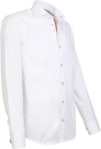 Giovanni Capraro 942-86 Heren Overhemd - Wit [Rood Accent]