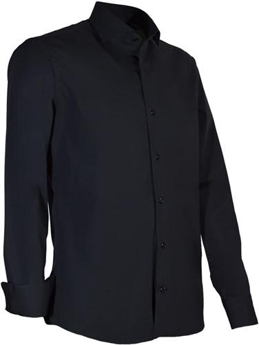Giovanni Capraro 945-20 - Heren Overhemd - Zwart