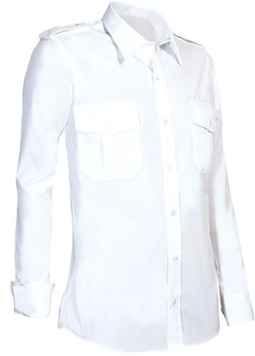 Giovanni Capraro 950-10 Heren Pilot Overhemd - Wit