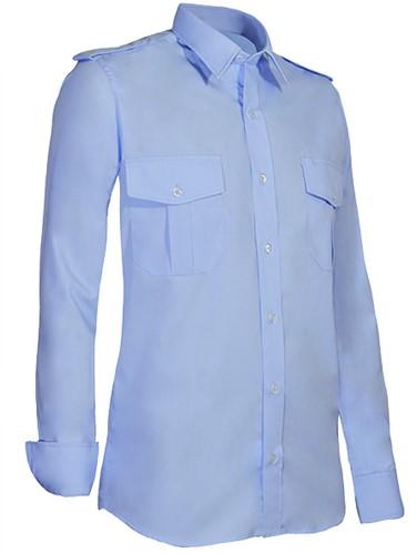 Giovanni Capraro 950-31 Heren Pilot Overhemd - Blauw