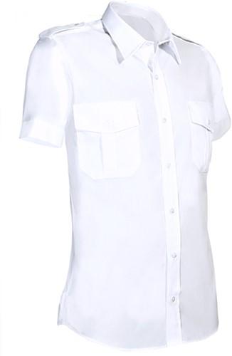 Giovanni Capraro 951 Heren Overhemd Korte Mouwen- Wit