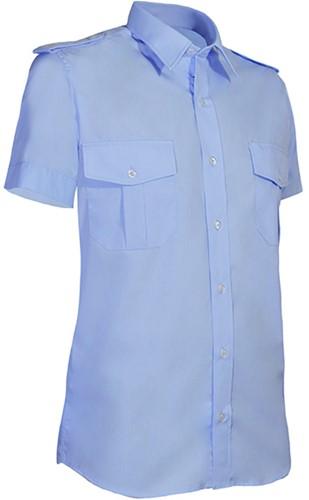 Giovanni Capraro 951-31 Heren Pilot Overhemd - Blauw