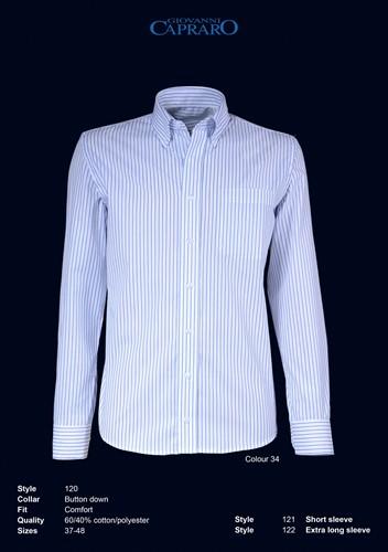 Giovanni Capraro 120-34 Heren Overhemd - Wit gestreept