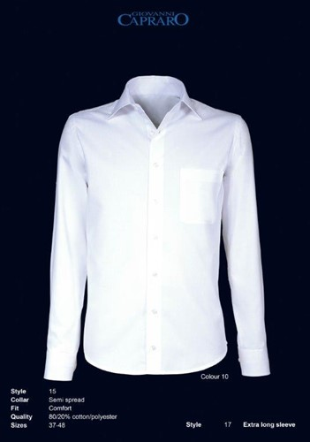 Giovanni Capraro 15-10 Heren Overhemd - Wit