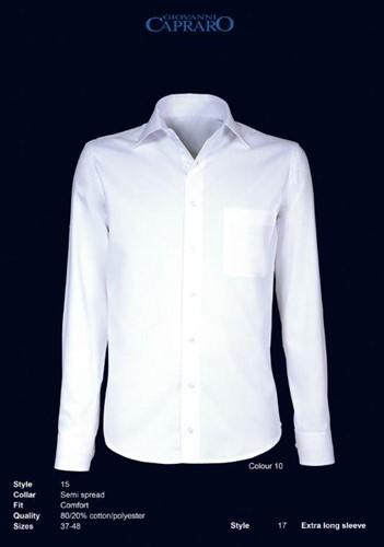 Giovanni Capraro 15-10 Overhemd - Wit
