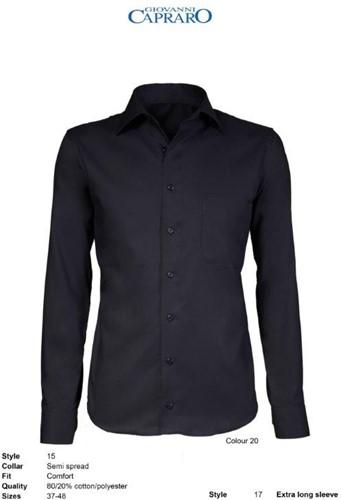 Giovanni Capraro 15-20 Heren Overhemd - Zwart