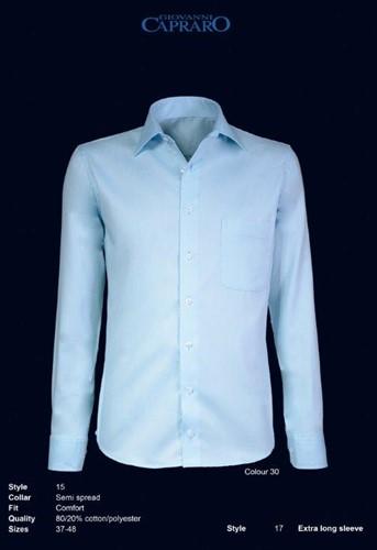 Giovanni Capraro 15-30 Heren Overhemd - Licht Blauw