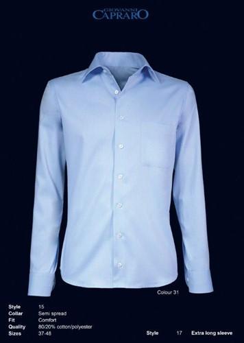 Giovanni Capraro 15-31 Heren Overhemd - Blauw